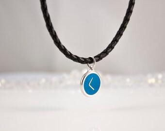 Hot Enamel Lucky Charm Silver Necklace RUNE KENAZ Pendant Talisman Kenaz Silver Rune Silver Gift For Her Rune Kenaz Anklet