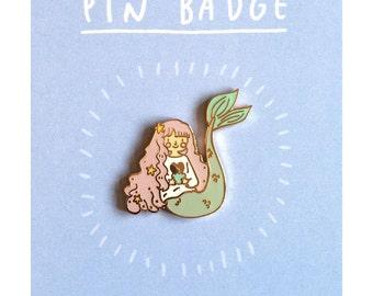 Mermaid Enamel Pin | cute mermaid pin badge