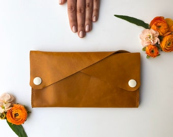 Leather Wallet - The Dolly - In Butternut Yellow