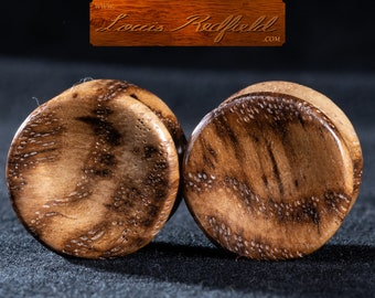 """Made to order Concave White Oak Burl Plugs 8g to 2 3/4"""" (69.8 mm)"""