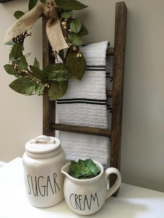 Mini Ladder, Farmhouse Decor, Kitchen Decor, Bathroom Decor, Farmhouse Ladder, Rustic Decor, Fixer Upper Style, Hand Towel Ladder