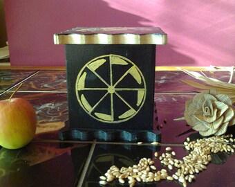 Wooden box for sundries – hand painted – Slavic mythology