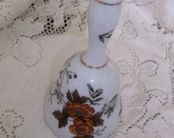 Kelvin China Vintage Bell White and Flowered