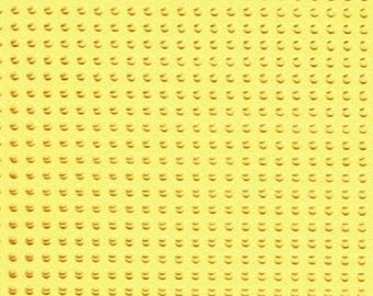 Paper perforated embroidery yellow lemon - 15 x 15 cm