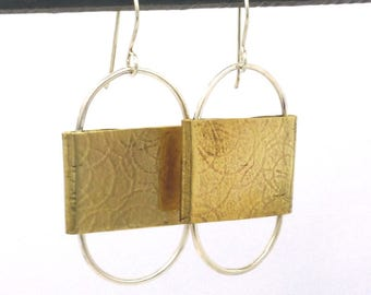 mixed metal jewelry | bohemian earrings | brass earrings | statement earrings | minimalist earrings | minimalist jewelry | boho jewelry