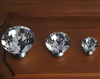 Exceptionnel Drawer Knobs / Dresser Pulls Handles / Cabinet Knob Sparkly Furniture  Decorative Knobs Hardware Silver Glass Knobs / Clear Crystal Knobs /
