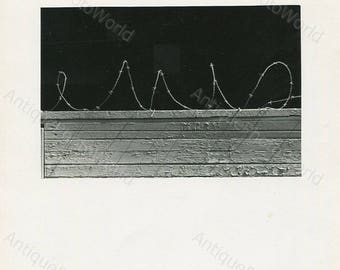 Barbed wire fence vintage art photo by J. Simons