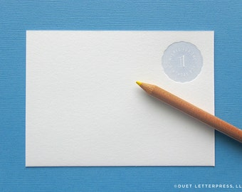 letterpress wish cards for the birthday boy