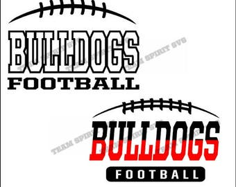 Bulldogs Football Laces Download Files - SVG, DXF, EPS, Silhouette Studio, Vinyl Cut Files, Digital Files -Use with Cricut and Silhouette