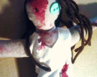 OOAK Gory Zombie Doll
