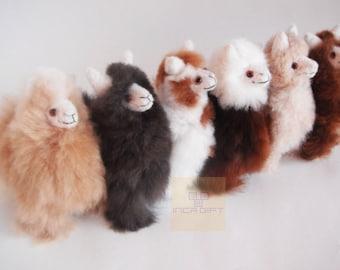 6IN Handmade Alpaca Stuffed Animal Plush Alpaca 6 IN/ Llama  fur teddy alpaca handmade Peruvian alpaca fur stuffed animal toy