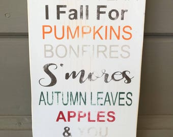 Fall Wood Sign | Autumn Wood Sign | Pumpkins Sign | Rustic Wood Sign | Fall Decor | Fall Signs | Farmhouse Decor | Autumn Decor | Fall