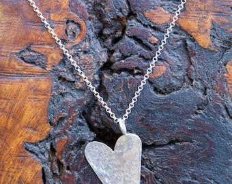 Hammered Heart Pendant.