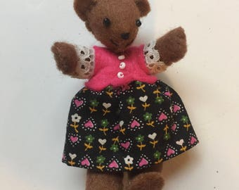 Floral Dress Bear