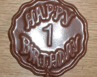 Happy 1 Birthday Lolly Chocolate Mold
