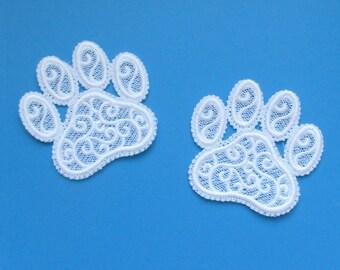Adorable Lace Paw Prints
