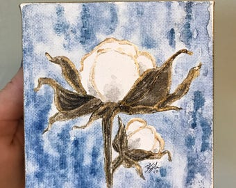 Cottom Blossom | Watercolor on Canvas