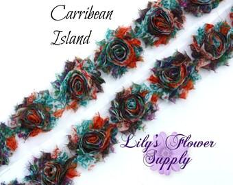 Shabby Rose Trim - Shabby Rose trim - 1/2 Yard - Shabby Flower - Chiffon Flower - Carribean Island - Shabby Chic - Rose Trim - Wholesale