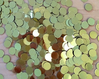 Gold Metaliic Circle Confetti - 6MM in Size - Approx. 14 grams - Craft Party Supplies