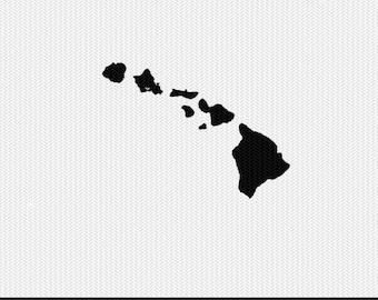 hawaii svg dxf file stencil silhouette cameo cricut clip art commercial use