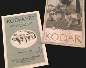 Rare Vintage Kodak Ephemera, Kodakery Magazine, February 1930, and 1923 Eastman Kodak Catalogue