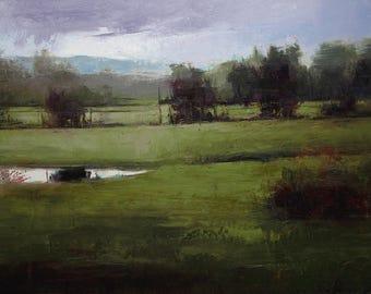 30X40 Original landscape oil painting, Landscape painting, 30X40 canvas.