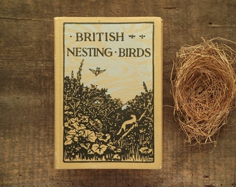 Vintage bird book British Nesting Birds.