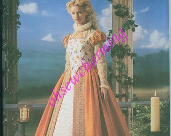 OOP Simplicity 8881 Womens RENAISSANCE Sewing Pattern Elizabethan Shakespeare in Love Neck Ruff