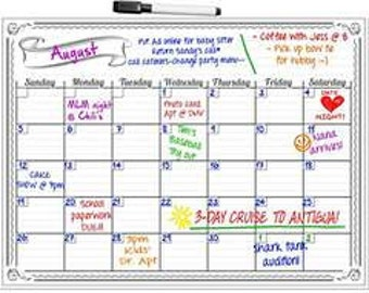 Smart Planner's Monthly Magnetic Refrigerator Calendar Dry Erase Board