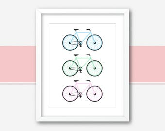 Bicycle Wall Art | Bicycle Poster | Bike Wall Art | Bicycle Art | Bike Art | Retro Bicycle Art | Bicycle Decor | Bicycle Printable