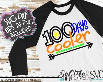 100 days of school svg, kindergarten svg, 100 days cooler svg, boys school svg, teacher svg School svg, Back to school svg, socuteappliques