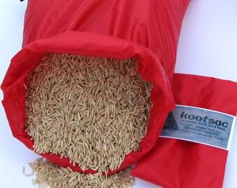 Reusable bulk food bag, reusable produce bag, bulk bin bag, food pouch, travel food bag, large nylon bag, ripstop nylon bag,red