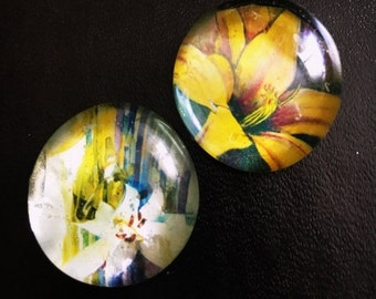 On Sale Set of 2 Flower Magnets