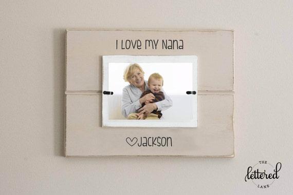 Love my grandma picture frame nana personalized