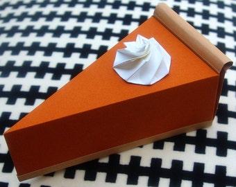 Pumpkin Pie - Paper Gift Box