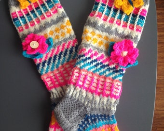 Whole gift knitted knee highs/socks/slippers (on order)