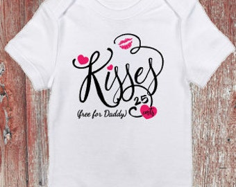 Kisses 25 cents (Free for Mommy/Daddy) Valentine's Day Infant Bodysuit