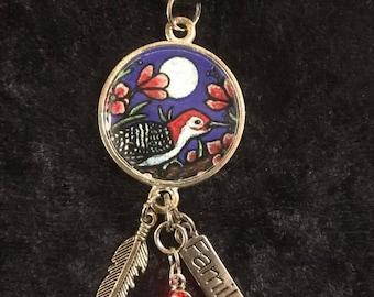 Woodpecker Dangle Pendant
