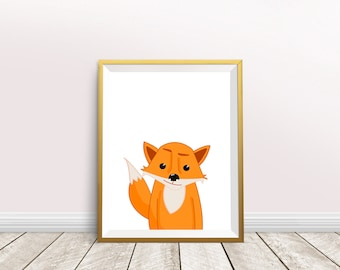 Nursery Fox Art,Fox Painting,Fox Art Print,fox art,nursery decor,Fox Print, Fox Baby,Fox illustration,instant download,fox lover gift
