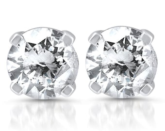 Diamond Studs 925 Silver 1/3CT Diamond Studs 925 Silver, Womens Diamond Studs, Gifts For Her