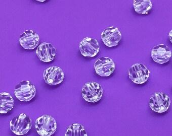 4mm Swarovski Crystal Round Beads, Style 5000