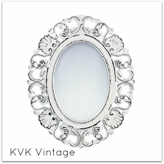 BOHO Off-White Distressed Wall Mirror - Wall Mirror - Mirror - Decorative Mirror