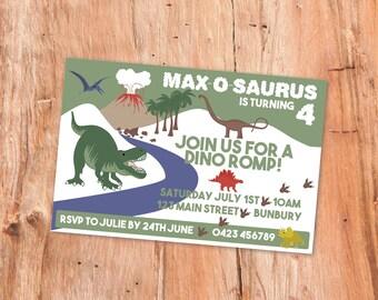Dinosaur Party Invitation, Customized, Printable Invitation, birthday Invitation, Dinosaur Party, Party Invite, Party Invitation, Dino Party