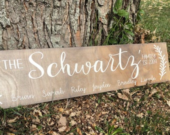 Wood Family Last Name Sign