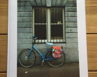 Amsterdam/Bike/blank inside/photo card /mini art / mail card