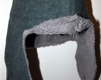 Swiss vintage military army winter wool hat LUpress marked uniform surplus