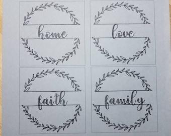 12x12 home, love, faith & family