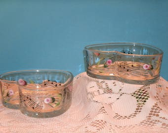 MUSIC THEMED candy dishes, set of two