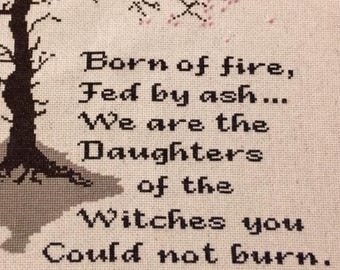 We Are the Daughters -- cross stitch pattern, Instant PDF download
