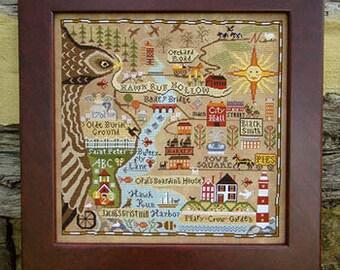 Carriage House Samplings - Map of Hawk Run Hollow